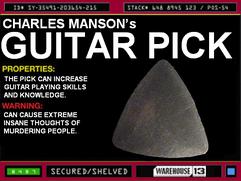 Charles Manson's Guitar Pick