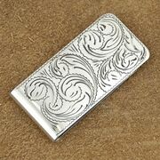 212252 1554MC 1000655 Custom Made Engraved Silver Old Western Money Clip by Jackson