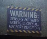 Dark vault warning