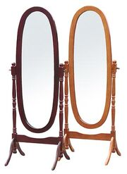 Wooden standing mirrors