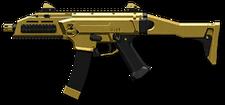 CZ Scorpion EVO 3 A1 Gold Render