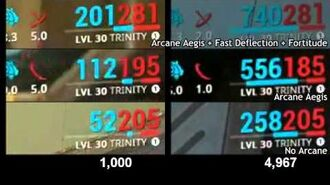 Maxed Arcane Aegis test with Fast Deflection and Fortitude