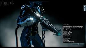 Warframe Let's Build the Tigris Double Barrel Shotgun (Damage 2