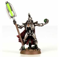 Necron lord with Resurrectio nOrb