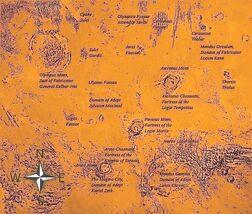 Mars Tharsis Map