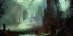 Destructive temple columbussage
