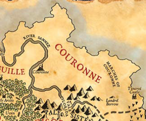 Map of couronne