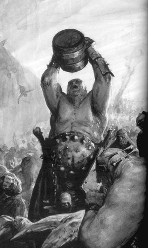 Ogres Great Feast 6th Edition Black&White Illustration