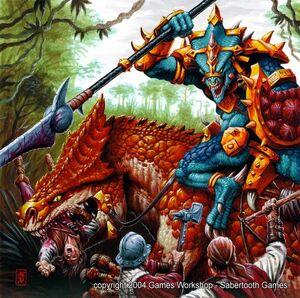 Warhammer Carnosaur Art