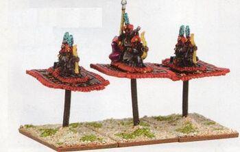 Arabian Bowmen on Flying Carpets Araby Warmaster Miniatures