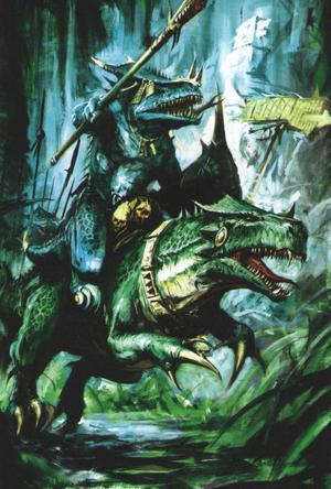 Warhammer Lizardmen Cold One Rider