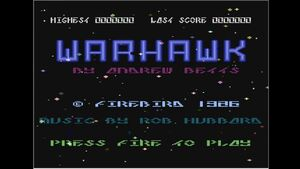 Warhawk 1986 title screen