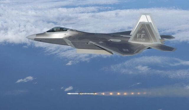 File:F-22 Raptor fires an AIM-120 AMRAAM.jpg