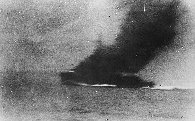 File:HMS Thracian sinking.jpg