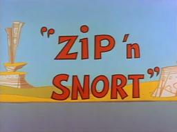 Zip n Snort Title Card