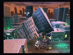 Mid - Building topple