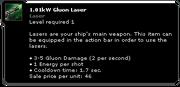 1.01kW Gluon Laser