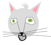 A grinning cat