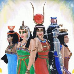 Nephthys, Isis, Hathor, Nut and Serket
