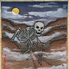 The Japanese call the reanimated skeletons of Giants, <i>Gashadokuro</i>...