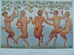 Satyrs dance