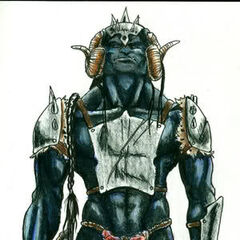 A warrior of the rare Black Orc breed...