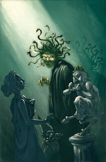 Medusa and Statues