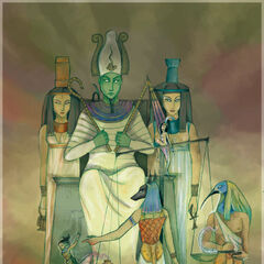 Judgment & Justice- Isis, Osiris, Nephthys, Thoth, Anubis, Ammut and tiny Ma'at...