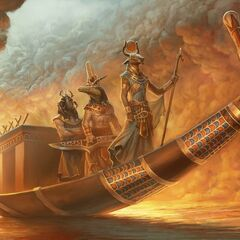 Hathor, Khepri and Sobek