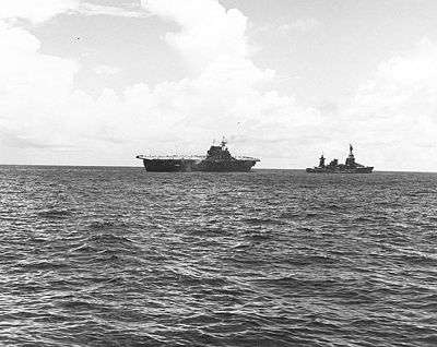 USS Northampton towing USS Hornet 26Oct1942