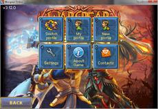 Main screen menu