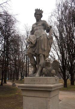 Ogród Saski (rzeźba Intelekt)
