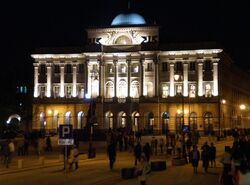 Pałac Staszica nocą