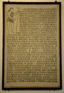Tablica kruchta Katedra św. Jana
