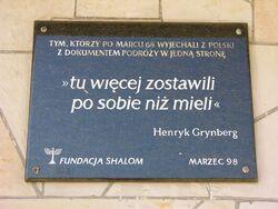 Tablica na budynku Dworca Gdańskiego.JPG