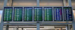 Tablice informacyjne Terminal A Lotnisko Chopina.JPG