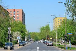 Ulica Smocza na wysokości ul. Anielewicza
