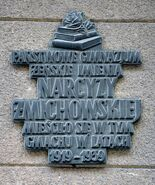 Tablica Gimnazjum Narcyzy Żmichowskiej Mokotowska 61