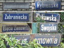 Tabliczki Elsnerow Targowek Fabryczny