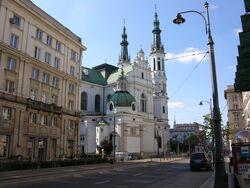 Kościół Najświętszego Zbawiciela od strony ulicy Marszałkowskiej.JPG