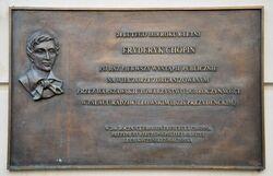 Tablica upamiętniająca pierwszy koncert Chopina Pałac Prezydencki.JPG