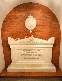 Sarkofag z prochami Stanisława Augusta Poniatowskiego Katedra św. Jana.JPG