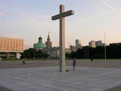 Krzyż upamiętniający mszę świętą JPII w 1979 roku.JPG