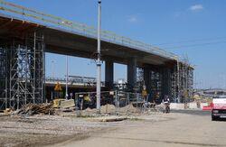 Jagiellońska, Toruńska, Most Grota-Roweckiego (budowa estakady).JPG