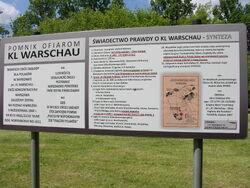 Tablica infomacyjna o KL Warschau na skwerze Alojzego Pawelka