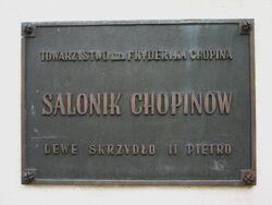 Tablica informacyjna o Saloniku Chopinów