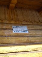 Falenica tabliczka dworzec