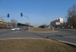 Powstańców Śląskich (tu będzie torowisko tramwajowe)