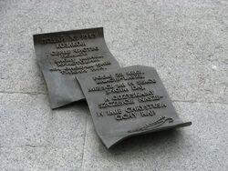 Pomnik Szewczenki napis