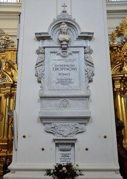 Epitafium i serce Fryderyka Chopina Kościół św. Krzyża.JPG